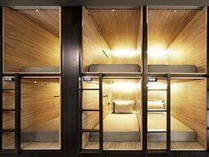 The Pod Capsule Hotel by Formwerkz Architects