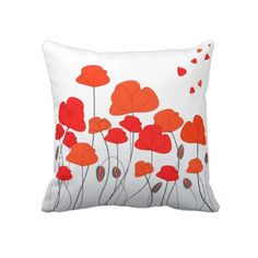Red and Orange Poppy Throw Pillow or Cushion #red #orange #poppy #throw #pillow #cushion http://www.zazzle.com/red_orange_poppies_throw_pillows_or_cushions-189762426213835866?rf=238213022379565456