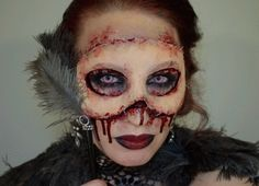 And finally, the monster behind the mask. | 33 Totally Creepy Makeup Looks To Try This Halloween