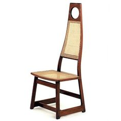 Sergio Rodrigues; Wood and Cane 'Menna' Chair, 1978.