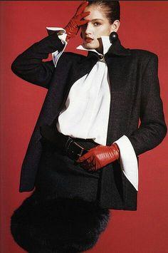 Cindy Crawford for Gianfranco Ferré 1988 80s Fashion, Fashion History, Look Fashion, Trendy Fashion, Vintage Fashion, Fashion Outfits, Womens Fashion, Fashion Design, Retro Mode