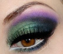 beauty, eye shadow, green and purple, makeup (Full Size)