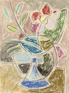 Vase of flowers. Sketch by Duncan Grant