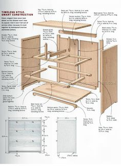 #2976 Small Chest of Drawers Plans - Furniture Plans