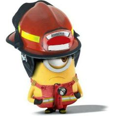 My husband and I are both firefighters and when we went to see despicable me 2 and the firefighting scene came on we both busted out laughing!