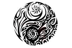Maori Yin Yang by IkaikaDesign. I want something similar for my 4 elements… Free Tattoo Designs, Maori Tattoo Designs, Tattoo Designs For Women, Maori Tattoos, Yin Yang Tattoos, Tribal Tattoos, 4 Elements Tattoo, Tribal Elephant Drawing, Polynesian Tattoos Women