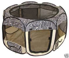Zebra Pet Dog Cat Tent Puppy Playpen Exercise Pen Crate >>> Find out more details by clicking the image