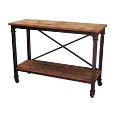 French Industrial Hall Table