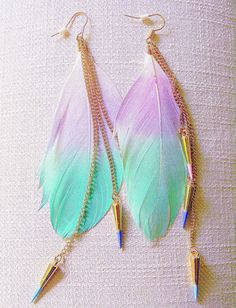 Feather earrings- I think that they are a bit too long for me, but they are still cute!
