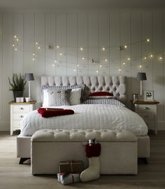 Delightful Add Strings Of Fairy Lights Above The Bed For A Magical Christmas Touch  #FlavoursofXmas Majestic:  Www.dfs.co.uk/majestic/maje00maj#tHhotAZhwWXD8H3D.97 Nice Ideas