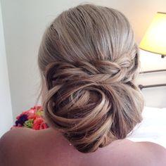 #updo #bride #wedding #hair #memorableoccasions #formalstyle #makeup #braid #pinoftheday www.facebook.com/memorableoccasionstc