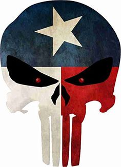"Grunge Style Texas Flag Punisher Skull Reflective Decal (8""x5.75"") Yeti Signs http://www.amazon.com/dp/B018ZNA440/ref=cm_sw_r_pi_dp_6Ui4wb05XZ3ZK"