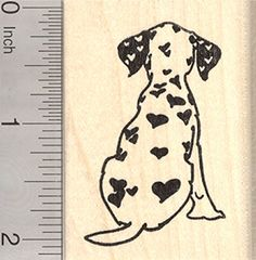 Valentines Day Dalmatian Rubber Stamp Dog with Heart Shaped Spots *** Want additional info? Click on the image.