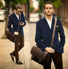 Inspiration About A Casual Style Blazer For Masculine Men 083 Stylish Men, Men Casual, Smart Casual, Navy Blazer Men, Brown Blazer, Brown Pants, Estilo Hipster, Hipster Guys, Look Formal