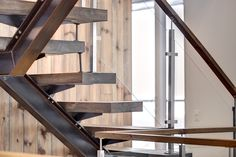 Portfolio - Enfer Design, fabrication d'. Design Industrial, Industrial Style, Staircase Handrail, Staircases, Glass Bridge, Steel Stairs, Stairs Architecture, Modern Stairs, Globe Chandelier