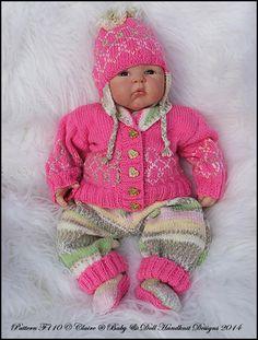 "'A Bit Random' Part Two 16-22"" doll/0-3m+ baby-knitting pattern, babydoll handknit designs, baby, reborn doll, reborn knitting pattern, self patterning yarn, random yarn"