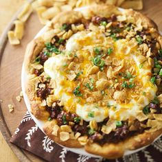 Chili Beef Pie with Biscuit Crust From Better Homes and Gardens, ideas and improvement projects for your home and garden plus recipes and entertaining ideas.