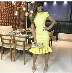 Boa noite 😍 ❌ Inspiração #preciosasestilosas #modaevangelica #instablogger #modafeminina #moda #look #blogueirasiniciantes #blogueiras… Lace Dress Styles, Blouse Styles, African Fashion Dresses, African Dress, Dress Skirt, Peplum Dress, Girls Dresses, Formal Dresses, Trendy Outfits