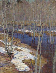 The thaw, Isaac Il'ich Levitan. Russian (1860 - 1900)