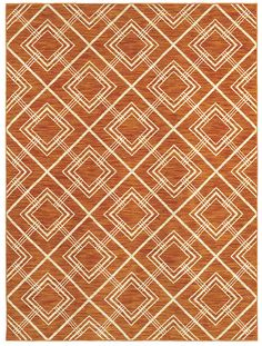 "Area Rug in style ""Las Palmas"" color Tangerine - by Shaw Floors"