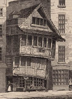 «The Old Fountain, Minories, London. Built c. (1480), demolished (1793). Taken from Walter Thornbury's Old & New London (1873)».