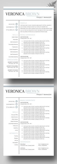 Nursing Resume Template 5 Pages Nurse CV Template - Registered - resume 5 pages