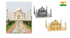 3D Metallic DIY Puzzle Stainless Gold Silver India Tajimahal | eBay