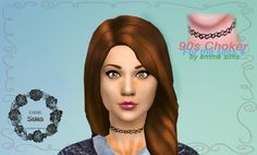 emmesimblr:THE SIMS 4 90s CHOKER by emme ❤️ (I'm back!) Tattoo for Female and Male - Teen to Elder -You can find my sims in the Gallery with the tag  #emmesimblr or #emmesims  ❤️DOWNLOADCredits:-Sweater by Me [x]-Other CC credit HERE ❤️