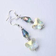 3b25ac58fd337 Boucles d oreilles argent 925 Cristal Swarovski papillon Bijoux de créateur  Bijoux En Cristal Swarovski,