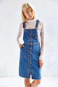 BDG Cora Denim Overall Midi Dress