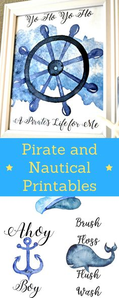 FREE Pirate and Nautical Themed  Printables | JessiLivingLovely.com