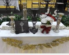 NJHS candle lighting ceremony table