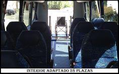 Interior Microbus 28 plazas Adaptado