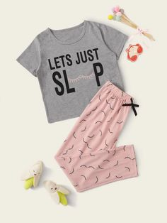 Cute Pajama Sets, Cute Pajamas, Girls Pajamas, Pajamas Women, Teen Pjs, Pj Sets, Girls Fashion Clothes, Teen Fashion Outfits, Outfits For Teens