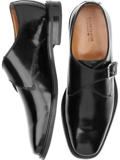 Shoes - Florsheim Black Monkstrap Shoes - Men's Wearhouse