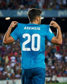Marco Asensio of Real Madrid celebrates after scoring the third goal...