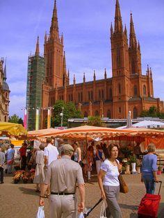 Wiesbaden market, Germany on Saturday morning by Trent Strohm, via Flickr