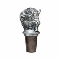 """Marshall """"Thundering Herd"""" Pewter Bottle Stopper by Heritage Pewter. $23.99. Marshall University -""""Thundering Herd"""" Bottle Stopper. Made with a synthetic cork, it has a chain with a pewter ring which slips over a bottle's neck."""