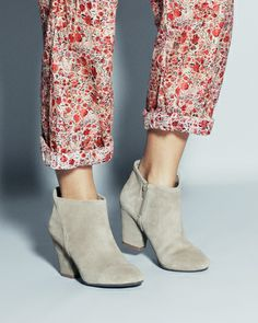 LOVE these suede booties !