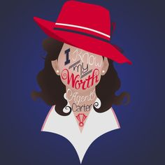 I Know My Worth || Peggy Carter || by Rotae Lupin || Agent Carter T-Shirt Contest || #fanart