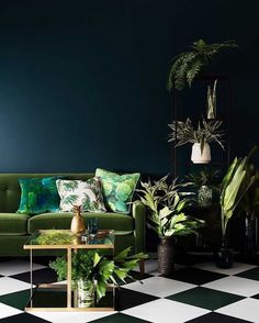 "TRENDLAND, ""When the color of the year speaks"", (Reflections of greenery in interior design), pinned by Ton van der Veer"