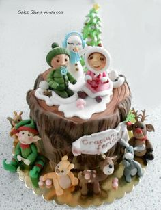 winter wonderland - Cake by lizzy puscasu