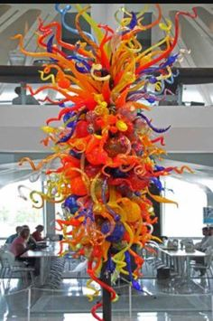 Dale Chihuly at the Milwaukee Art Museum, always my first stop