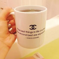 -CoCo Chanel. I want this mug.