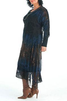 LEMA Kilmore Dress In Navy & Brown - Beyond the Rack