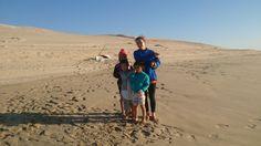 Con mis nietos de campamento