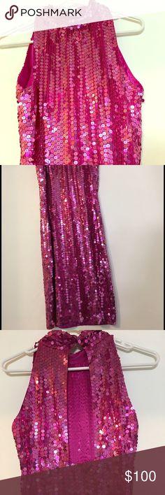 Evening short sequin dress Purple short dress design open back, zipper Dresses Midi
