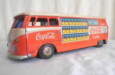 Coca-Cola Old Toy VW Tin Van - Japan TWO of my fav things together!! :D