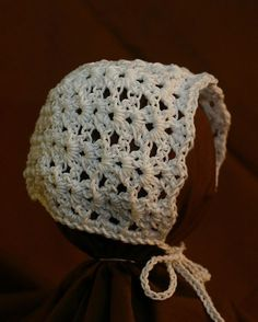 baby bonnet lacy. quick to make FREE PATTERN
