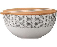 Komplet mis do sałatek Babette, 4 elem. Serving Bowl Set, Glass Serving Bowls, Snack Bowls, Bread Bowls, Wood Rounds, Dish Sets, Home Additions, Hazelwood Home, Decorative Bowls